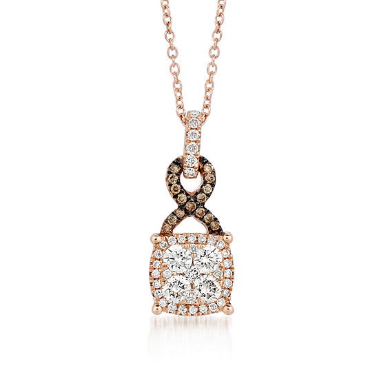 Le Vian Grand Sample Sale™ Pendant featuring Vanilla Diamonds®, & Chocolate Diamonds® set in 14K Strawberry Gold®