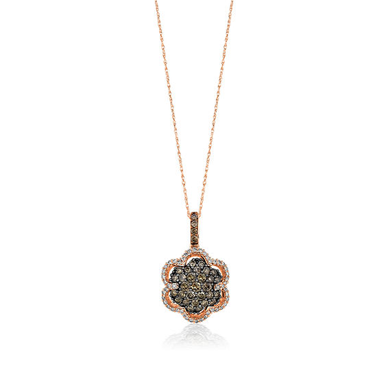 LIMITED QUANTITIES Le Vian Grand Sample Sale™ Chocolate Diamonds® & Vanilla Diamonds® Pendant set in 14K Strawberry Gold®