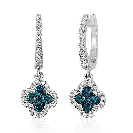 LIMITED QUANTITIES Le Vian Grand Sample Sale™ Vanilla Diamonds® & Blueberry Diamonds® Earrings set in 14K Vanilla Gold®