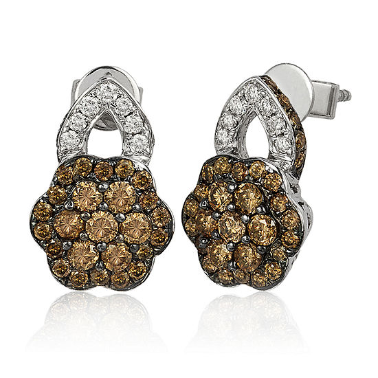 LIMITED QUANTITIES Le Vian Grand Sample Sale™ Chocolate Diamonds® & Vanilla Diamonds® Earrings set in 14K Vanilla Gold®