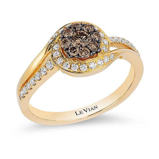 LIMITED QUANTITIES Le Vian Grand Sample Sale™ Chocolate Diamonds® & Vanilla Diamonds® Ring set in 14K Honey Gold™