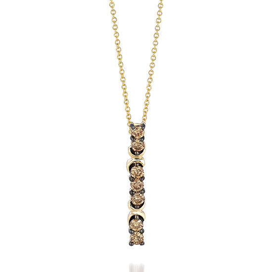 LIMITED QUANTITIES Le Vian Grand Sample Sale™ Chocolate Diamonds® Pendant set in 14K Honey Gold™