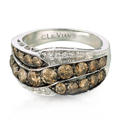 LIMITED QUANTITIES Le Vian Grand Sample Sale™ Chocolate Diamonds® & Vanilla Diamonds® Ring set in 14K Vanilla Gold®
