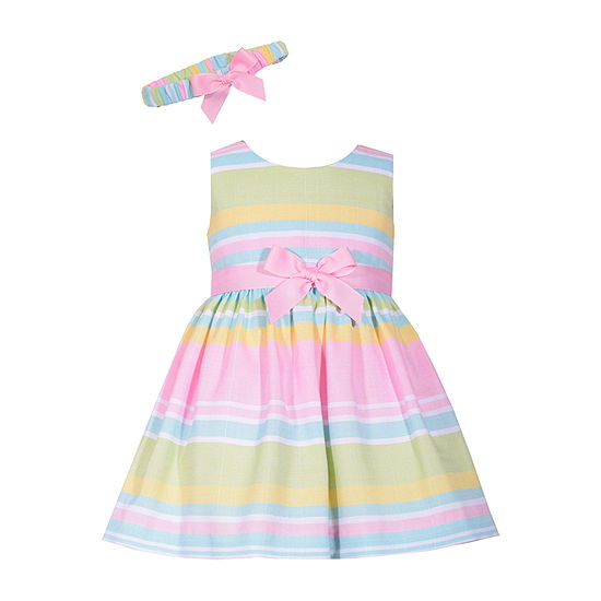 01914e8c9cad Bonnie Jean Sleeveless Striped A-Line Dress - Baby Girls - JCPenney