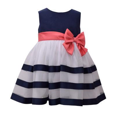 Bonnie Jean Sleeveless Striped A-Line Dress - Baby Girls