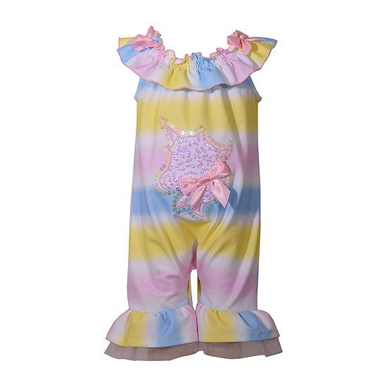 Bonnie Jean Girls Sleeveless Romper - Baby