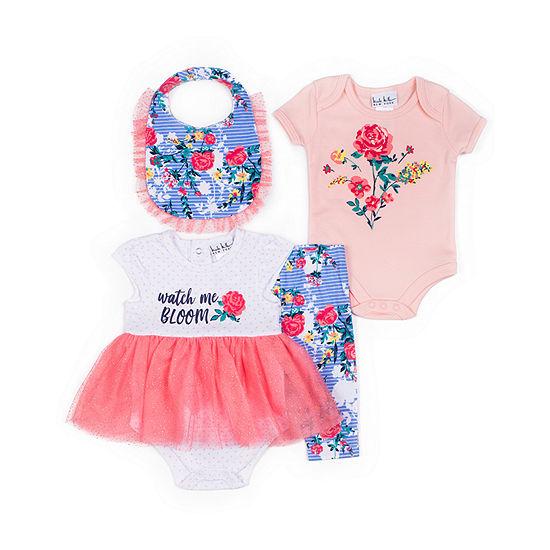 Nicole Miller 4 Pc Baby Clothing Set Baby Girls