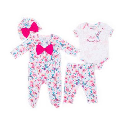 Nicole Miller 4-pc. Legging Set-Baby Girls