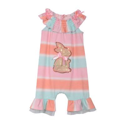 Bonnie Jean Bunny Sleeveless Romper - Baby Girls