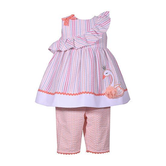 Bonnie Jean Swan 2 Pc Legging Set Baby Girls