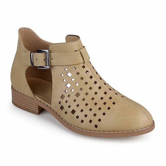Journee Collection Womens Neela Booties Block Heel