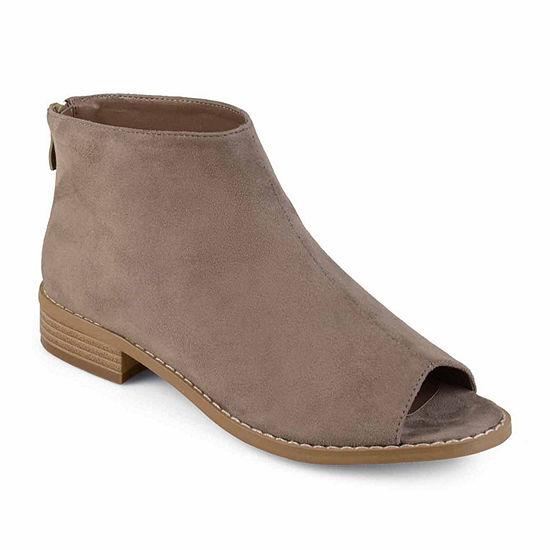Journee Collection Womens Reya Booties Block Heel