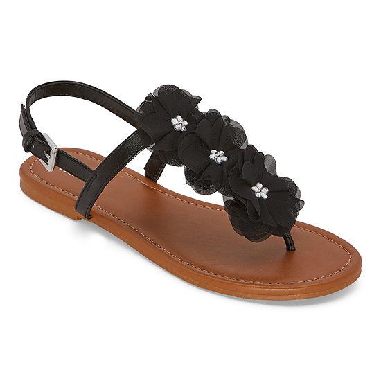 Mixit Womens Allegra Adjustable Strap Flat Sandals