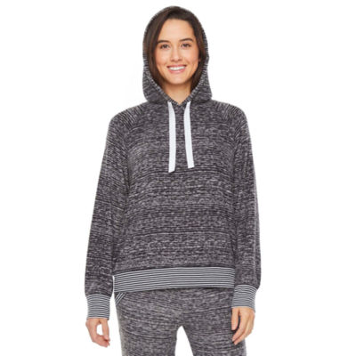 Jaclyn Womens Knit Hooded Neck Pajama Top