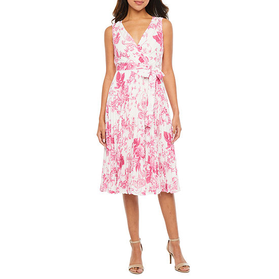 Danny & Nicole Sleeveless Toile Fit & Flare Dress