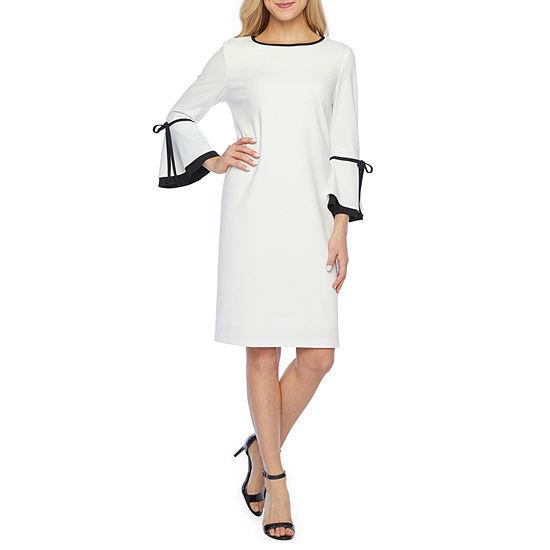 Ronni Nicole 3/4 Sleeve Shift Dress