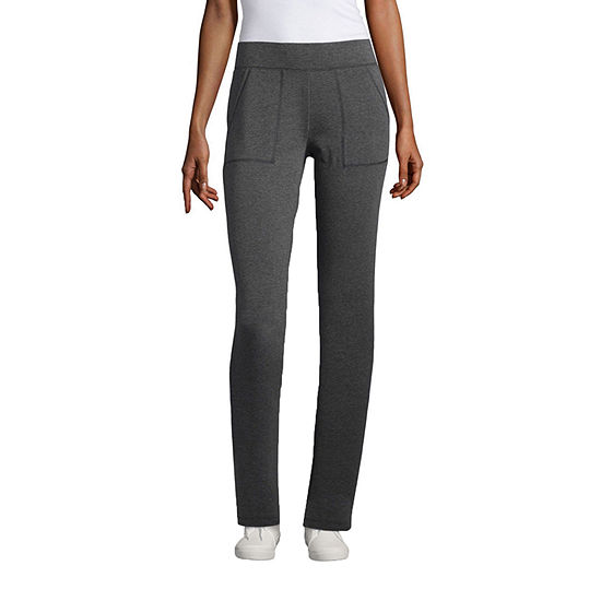 St. John's Bay Womens Mid Rise Slim Pant-Tall