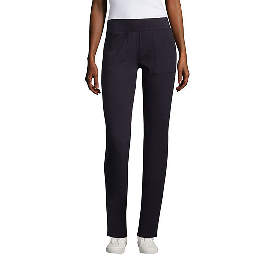 St. John's Bay Womens Mid Rise Slim Pant-Tall