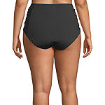 Liz Claiborne High Waist Swimsuit Bottom Plus
