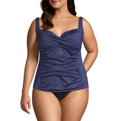 Liz Claiborne Tankini Swimsuit Top Plus