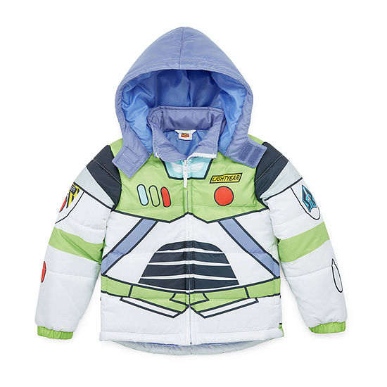 Disney Boys Outerwear - Boys Toy Story Hooded Heavyweight Puffer Jacket-Toddler