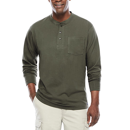 Smith's Workwear Long-Sleeve Pocket Gusset Henley