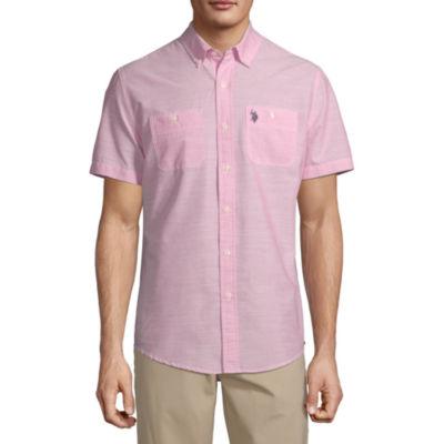U.S. Polo Assn. Mens Short Sleeve Button-Down Shirt