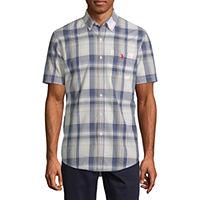 U.S. Polo Assn. Stretch Mens Short Sleeve Button-Front Shirt Deals
