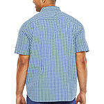 The Foundry Big & Tall Supply Co. Mens Short Sleeve Button-Front Shirt - Big and Tall