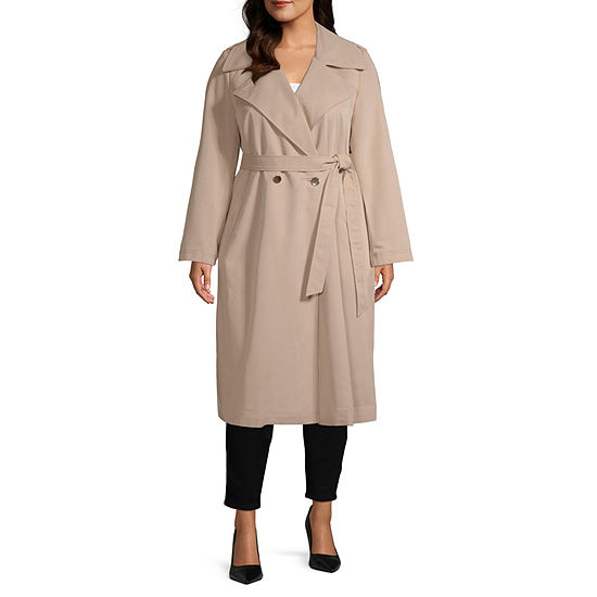 Worthington Womens Trench Coat - Plus