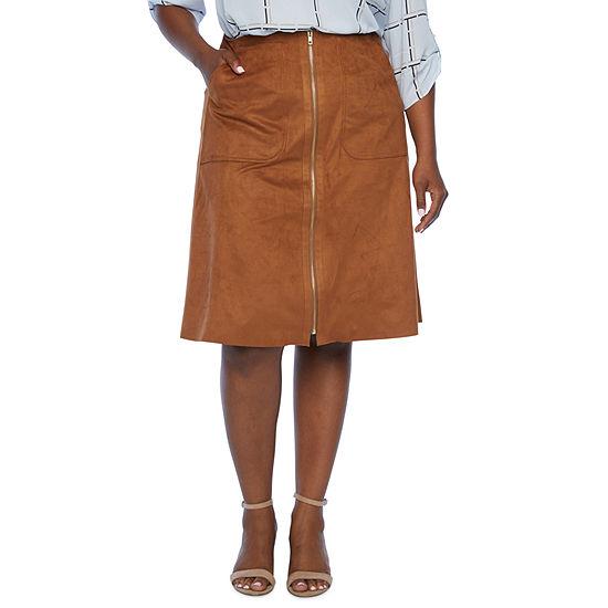 Worthington Womens Midi Pencil Skirt-Plus