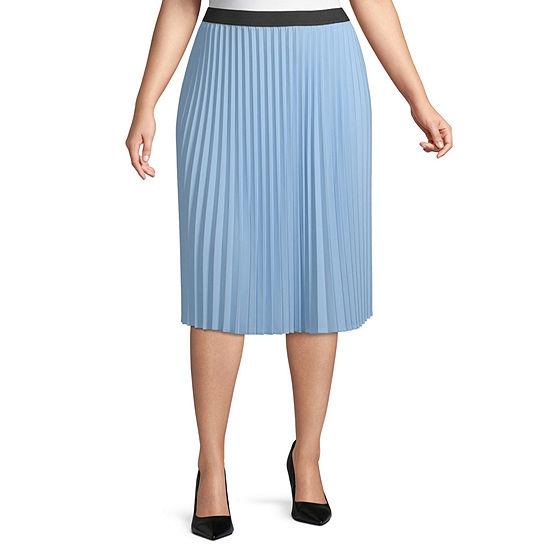 Worthington Womens Pleated Skirt - Plus
