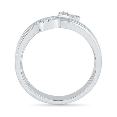 Womens White Diamond 10K Gold Anniversary Cocktail Ring