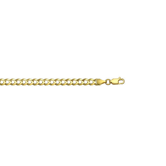 """14K Yellow Gold 4.65 MM Curb Necklace 20"""""""