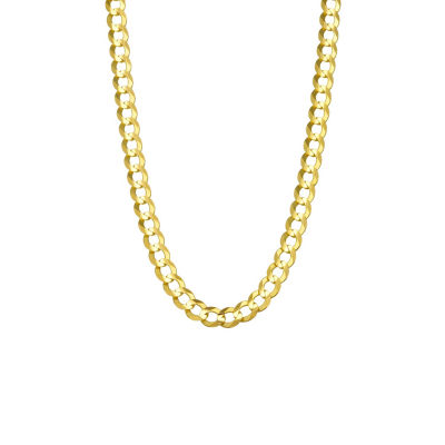 14K Yellow Gold 5.7MM Curb Necklace 20""