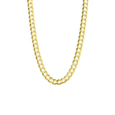 14K Yellow Gold 5.7MM Curb Necklace