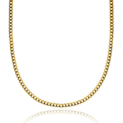 """14K Yellow Gold 3.15 MM Curb Necklace 24"""""""