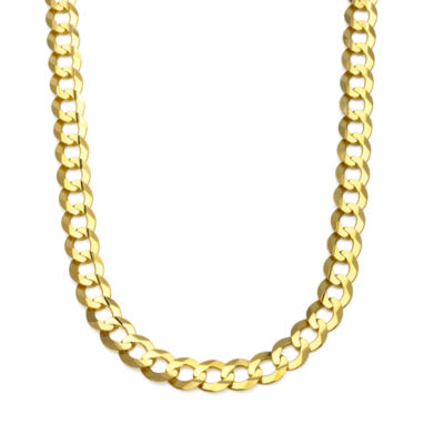 """10K Yellow Gold 10MM Curb Necklace 26"""""""