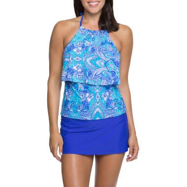 jcpenney.com | Aqua Couture Halterkini or Solid Swim Skirt