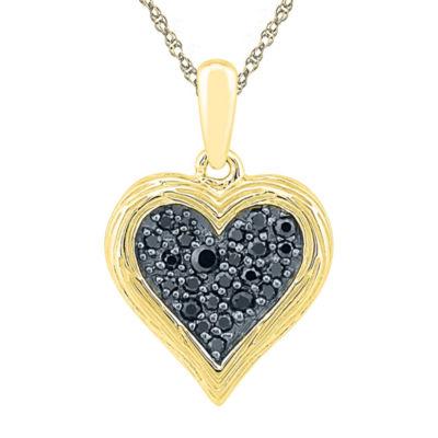 Womens 1/6 CT. T.W. White Diamond Pendant Necklace