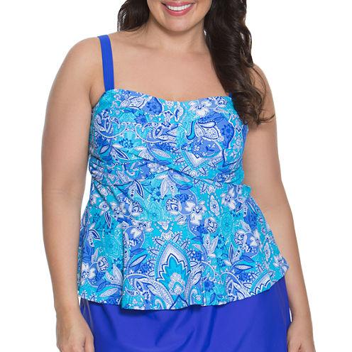 Aqua Couture Bandeau Swimsuit Top-Plus