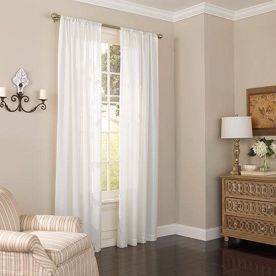 Eclipse Chelsea Sheer Rod-Pocket Single Curtain Panel