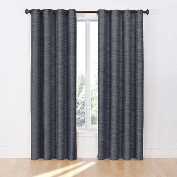 Eclipse Deron Blackout Grommet Top Curtain Panel Jcpenney