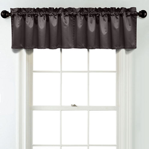 JCPenney Home Matte Satin Rod Pocket Blackout Lined Tailored Valance