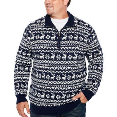 The Foundry Big & Tall Supply Co. Mock Neck Long Sleeve Pullover Sweater - Big and Tall