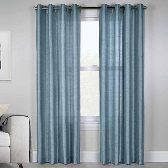 Princess Semi-Sheer Grommet-Top Curtain Panel