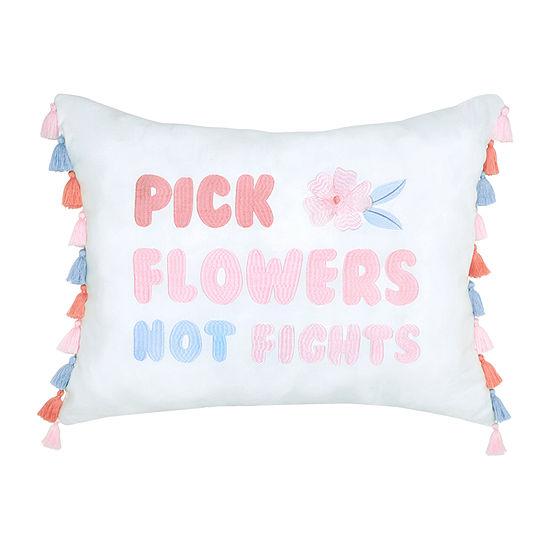 Frank And Lulu Pick Flowers Dec Pillow Rectangular Throw Pillow