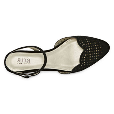 a.n.a Womens Dandy Buckle Closed Toe Ballet Flats