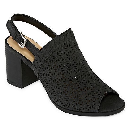 CL by Laundry Womens Jannis Pumps Peep Toe Block Heel