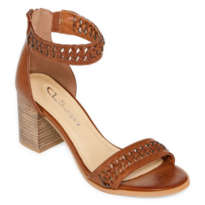 CL by Laundry Womens Jaxine Pumps Zip Open Toe Block Heel